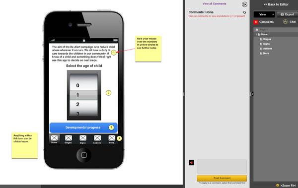 MockFlow Wireframe Editor Screenshot